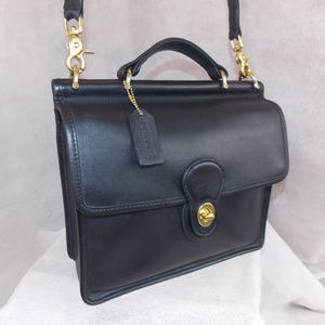 COACH Vintage Willis Bag 9927 Brass Black EXC PLUS